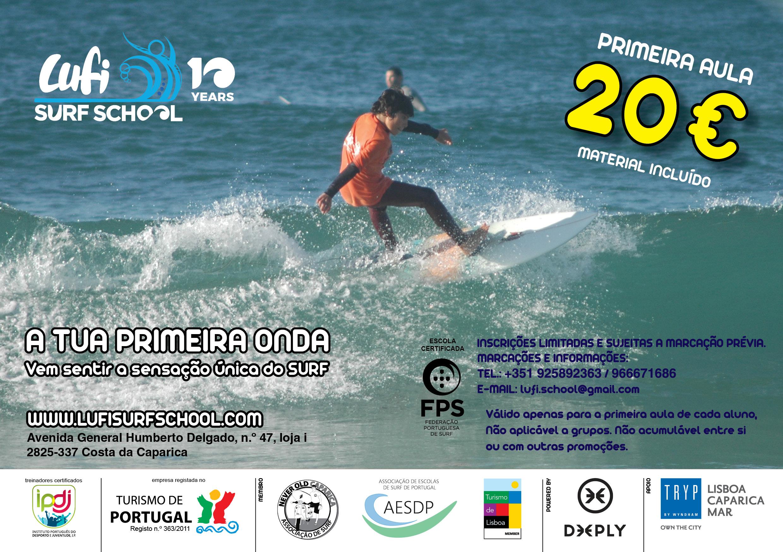 Promoção Primeira Aula de Surf – 20€