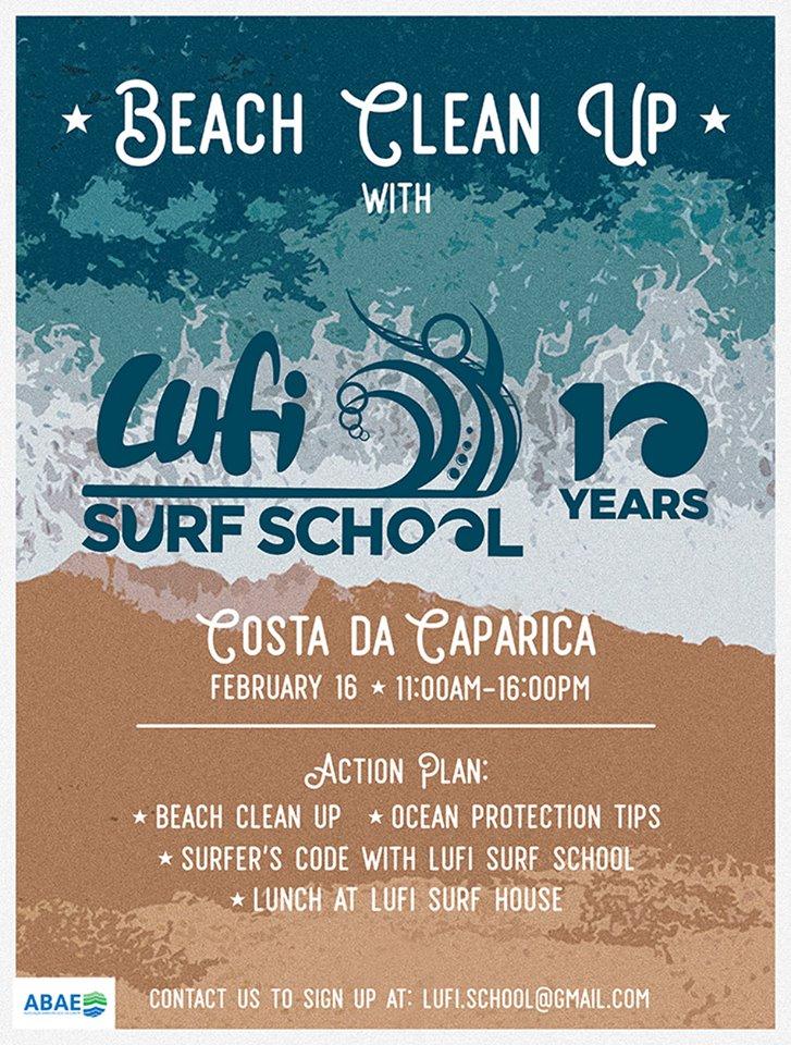 Beach Clean Lufi Surf School / ABAE